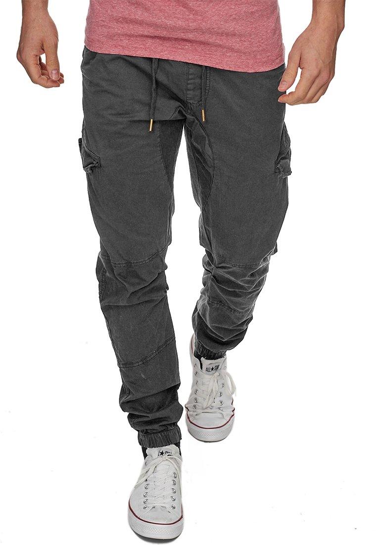 INDICODE JEANS - LEVI - Cargo trousers - raven