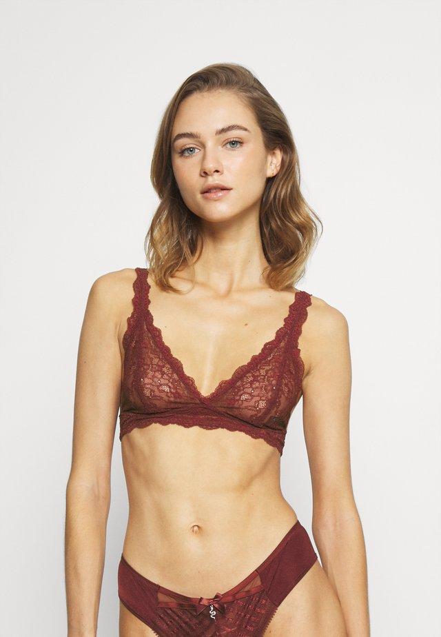 LONNIE BRA - Triangel BH - red dark unique