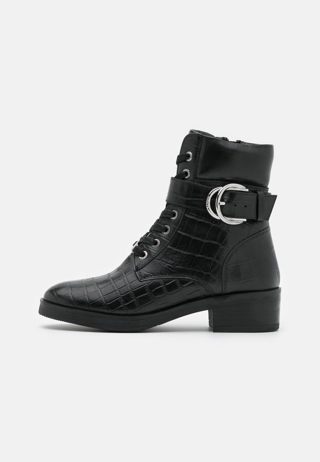 DALEY - Bottines à lacets - black