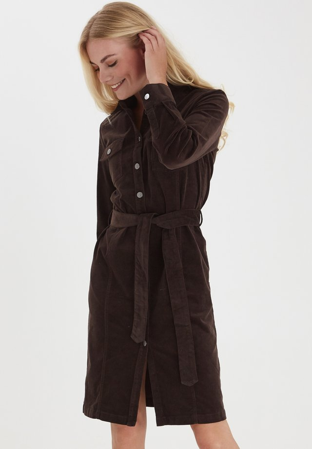 FRMACORD 3 - Shirt dress - coffee bean