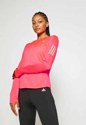 SPORTS RUNNING LONG SLEEVE - Camiseta de deporte - signal pink