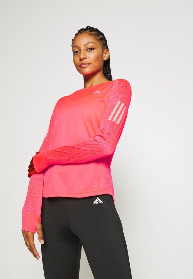 SPORTS RUNNING LONG SLEEVE - T-shirt sportiva - signal pink