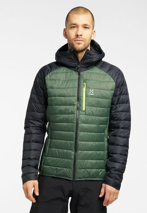 SPIRE MIMIC HOOD  - Winter jacket - fjell green/true black