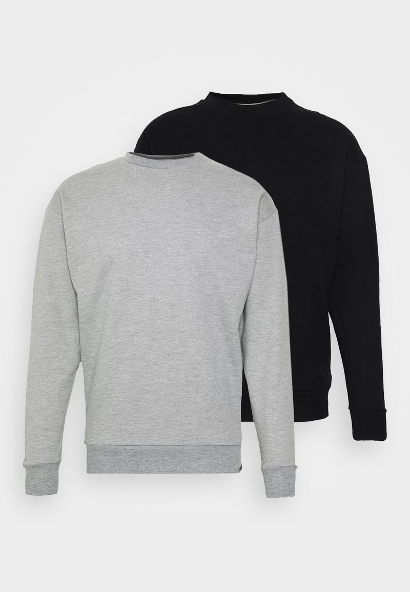 Newport Bay Sailing Club - NEWPORT CORE CREW 2 PACK - Sweatshirt - black/grey marl