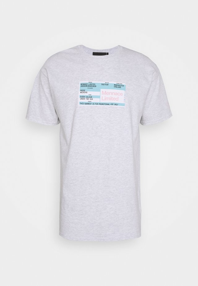 UNISEX PRIDE TICKET  - T-shirt imprimé - grey