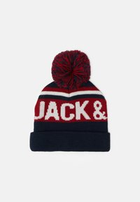 Jack & Jones Junior - JACCAMERON TASSLE BEANIE UNISEX - Čepice - navy blazer - 0