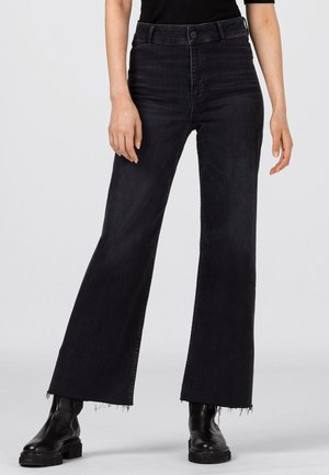 Straight leg jeans - dark grey denim