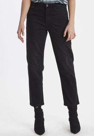 RAVEN - Straight leg jeans - washed black