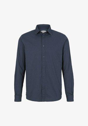 GEMUSTERTES - Shirt - navy olive irregular design