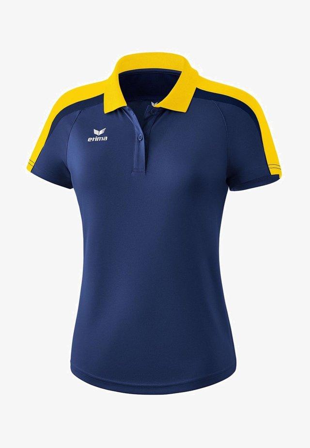 LIGA 2.0 POLOSHIRT DAMEN - Polo shirt - new navy / gelb