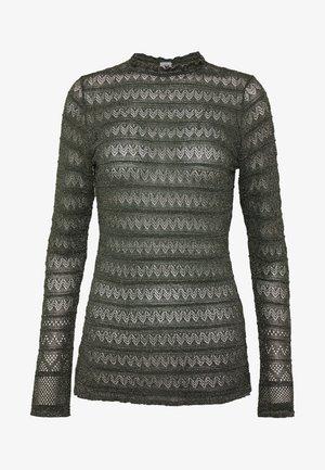 LONG SLEEVE CREW NECK - Bluse - grey