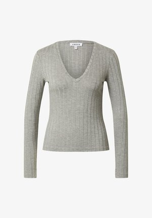 ELIN - Long sleeved top - graumeliert