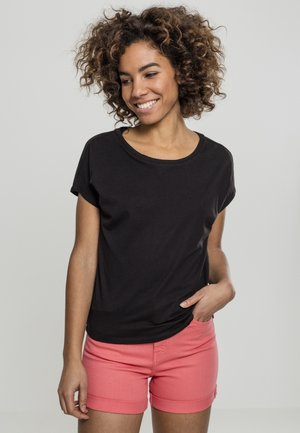 LADIES BASIC DROP SHOULDER - Camiseta básica - black