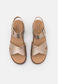 Clarks - ORINOCO STRAP - Sandals - metallic - 5