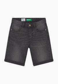 Benetton - Denim shorts - dark grey - 2