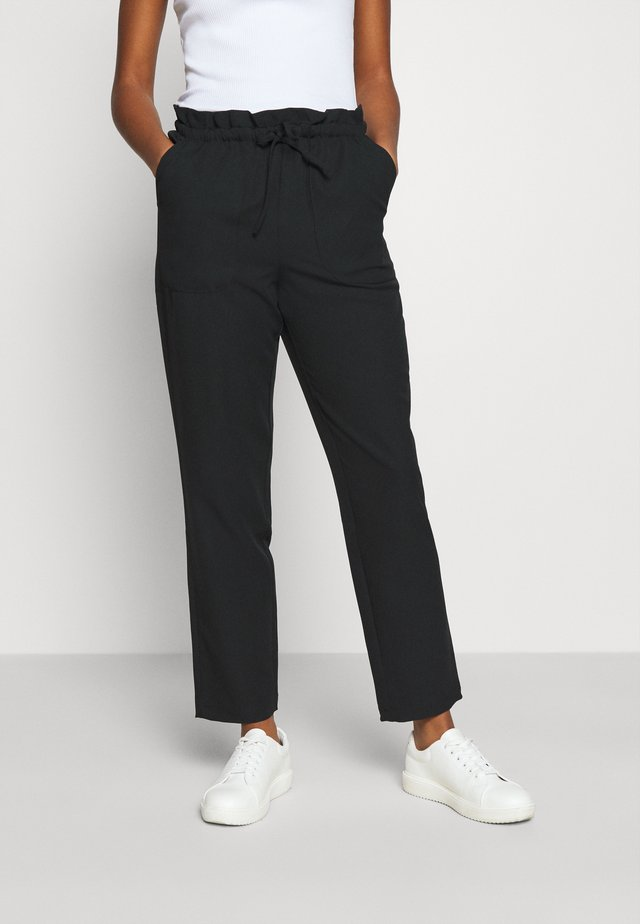 VMTHERESSA PAPERBAG PANT - Pantalon classique - black