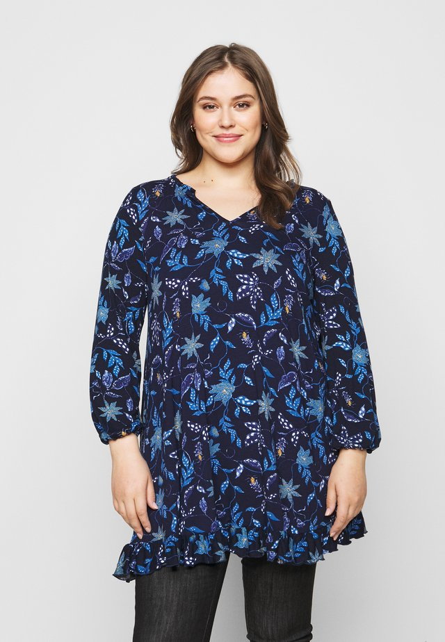 FRILL SWING - Long sleeved top - blue
