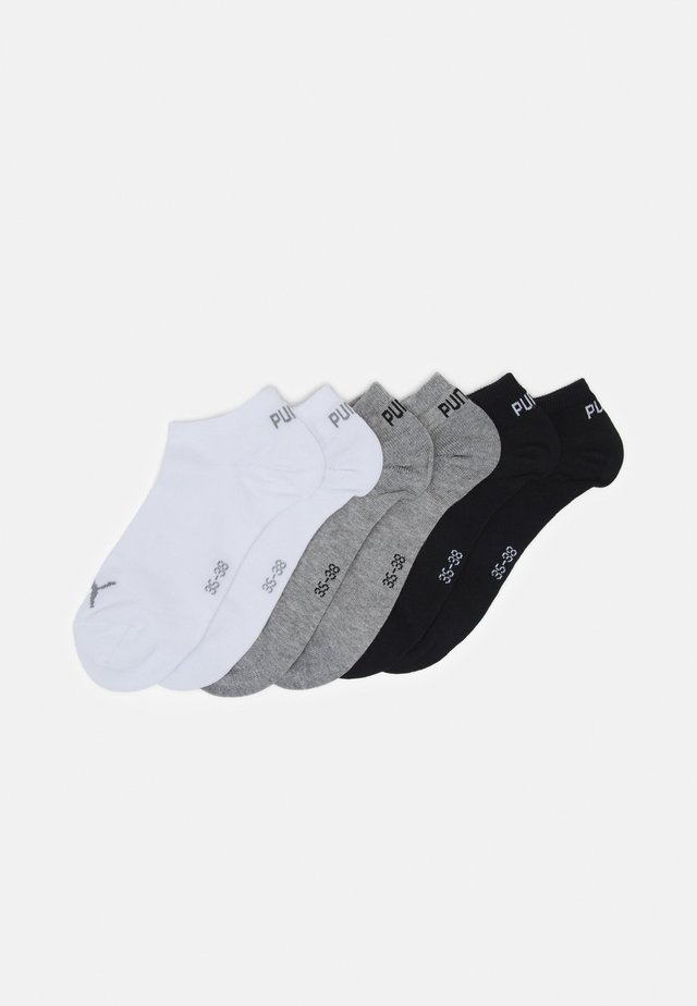 SNEAKER PLAIN 6 PACK UNISEX - Sports socks - black/grey