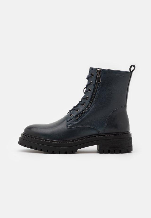 IRIDEA - Platform ankle boots - navy