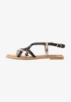 Sandály s odděleným palcem - schwarz/bronze