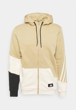 COLORBLOCK FULL ZIP SEASONAL - Sweat à capuche zippé - beige