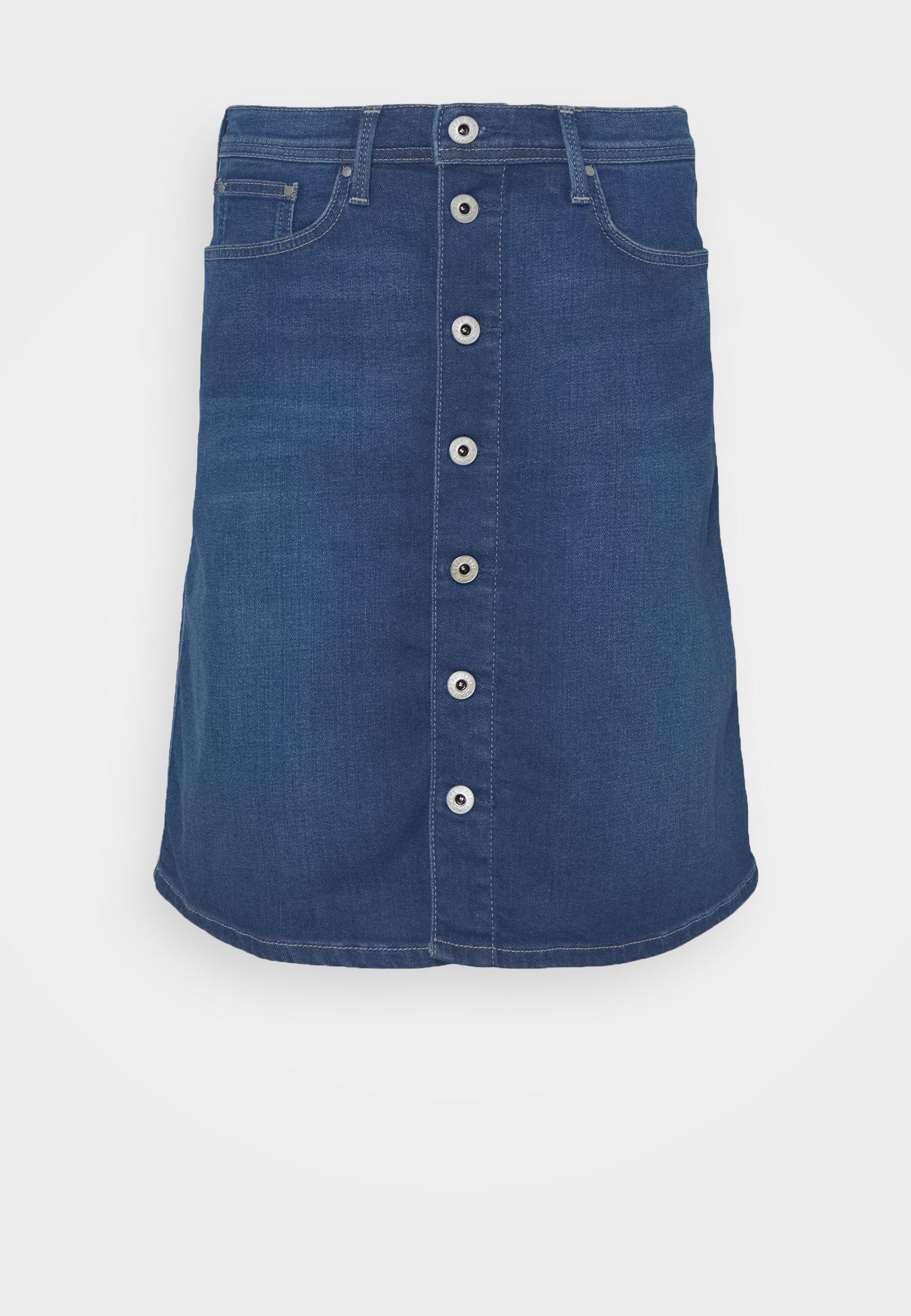 Femme MARBLE SKIRT - Jupe en jean