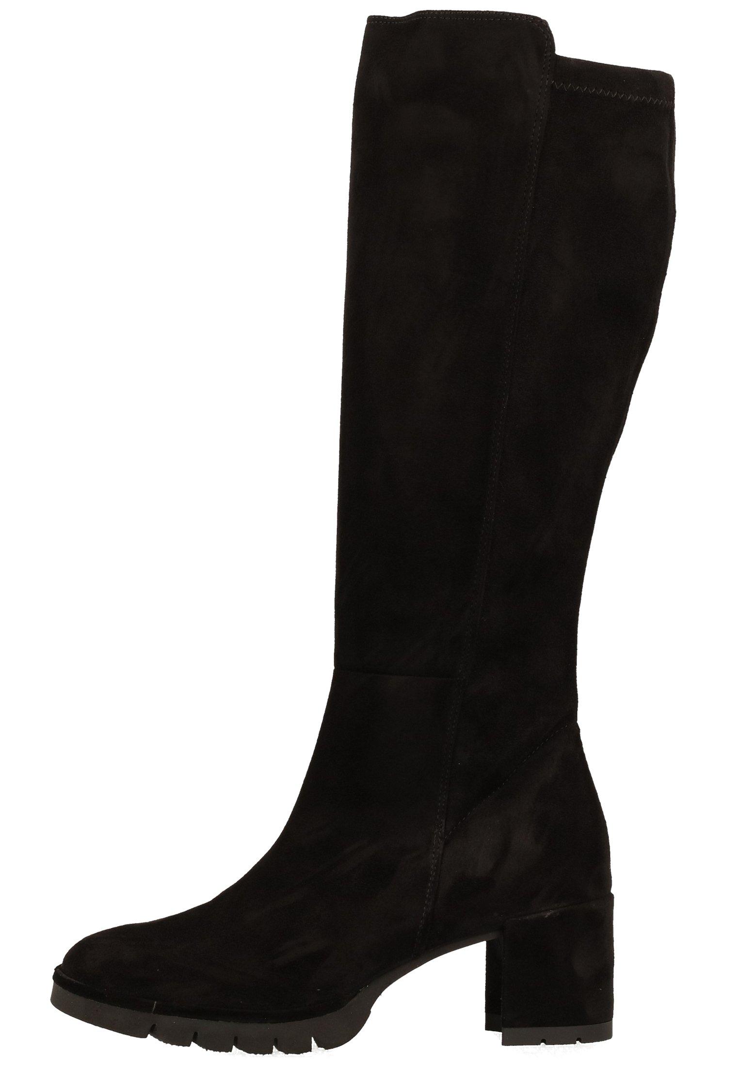Paul Green Laarzen met hak zwart zilver Leer