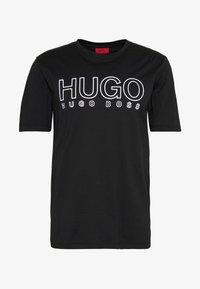HUGO - DOLIVE - Print T-shirt - black - 3