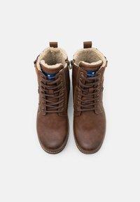 TOM TAILOR - Šněrovací kotníkové boty - rust - 3