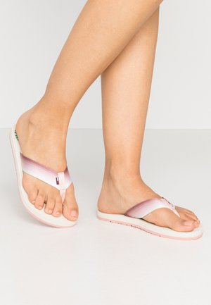 SUSTAINABLE BEACH - T-bar sandals - sweet peach