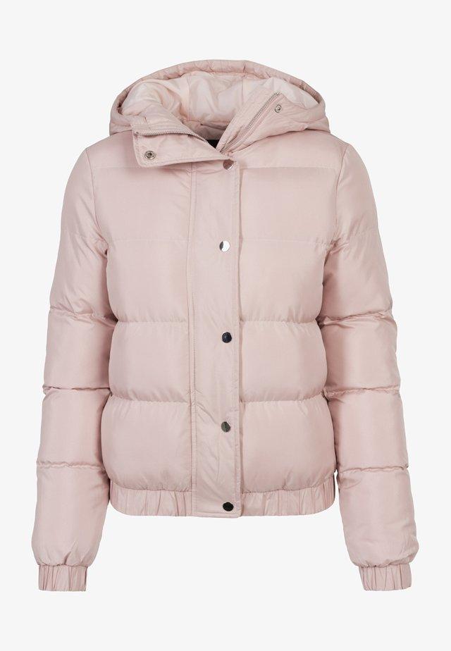 LADIES HOODED PUFFER - Winter jacket - lightrose