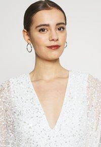 Miss Selfridge - ALL OVER EMBELLISHED MAXI DRESS - Iltapuku - ivory/silver - 4