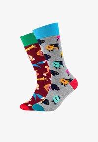 Fun Socks - 2ER PACK ANIMAL - Socks - light grey melange - 0
