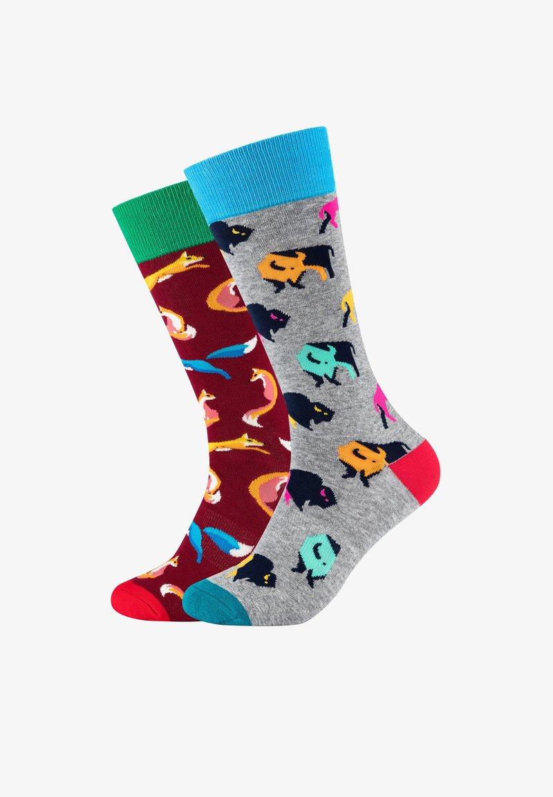 Fun Socks - 2ER PACK ANIMAL - Socks - light grey melange