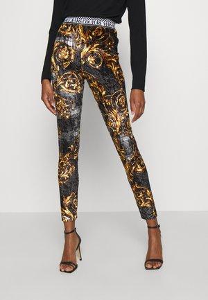 PANTS - Leggings - Trousers - black/gold