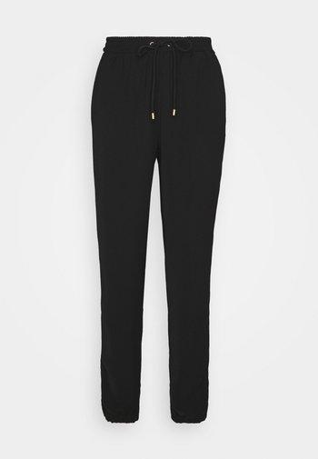 STRIPE TRACK PANT - Pantalones - black