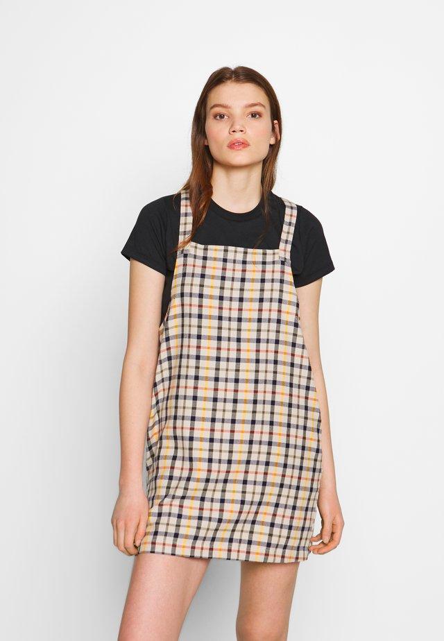 ALLEN PLAID - Korte jurk - oatmeal
