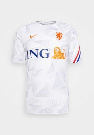NIEDERLANDE KNVB - Koszulka reprezentacji - white/safety orange