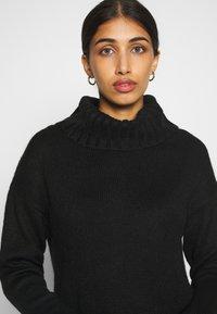 New Look - ROLL NECK DRESS - Strikket kjole - black - 6