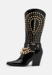 Jeffrey Campbell - Cowboy/biker ankle boot - black - 1