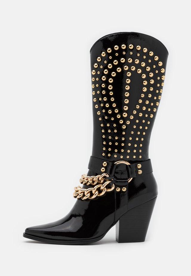 Kovbojské/motorkářské boty - black