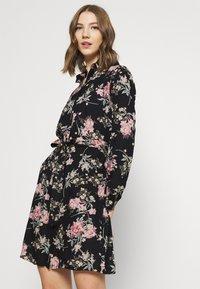 Pieces - PCPAOLA LS DRESS - Shirt dress - black - 3