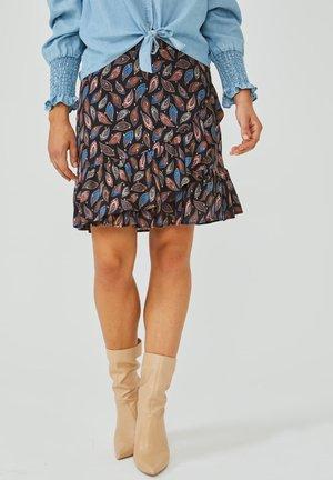 SALIENTA PAISLEY - Wrap skirt - black dessin