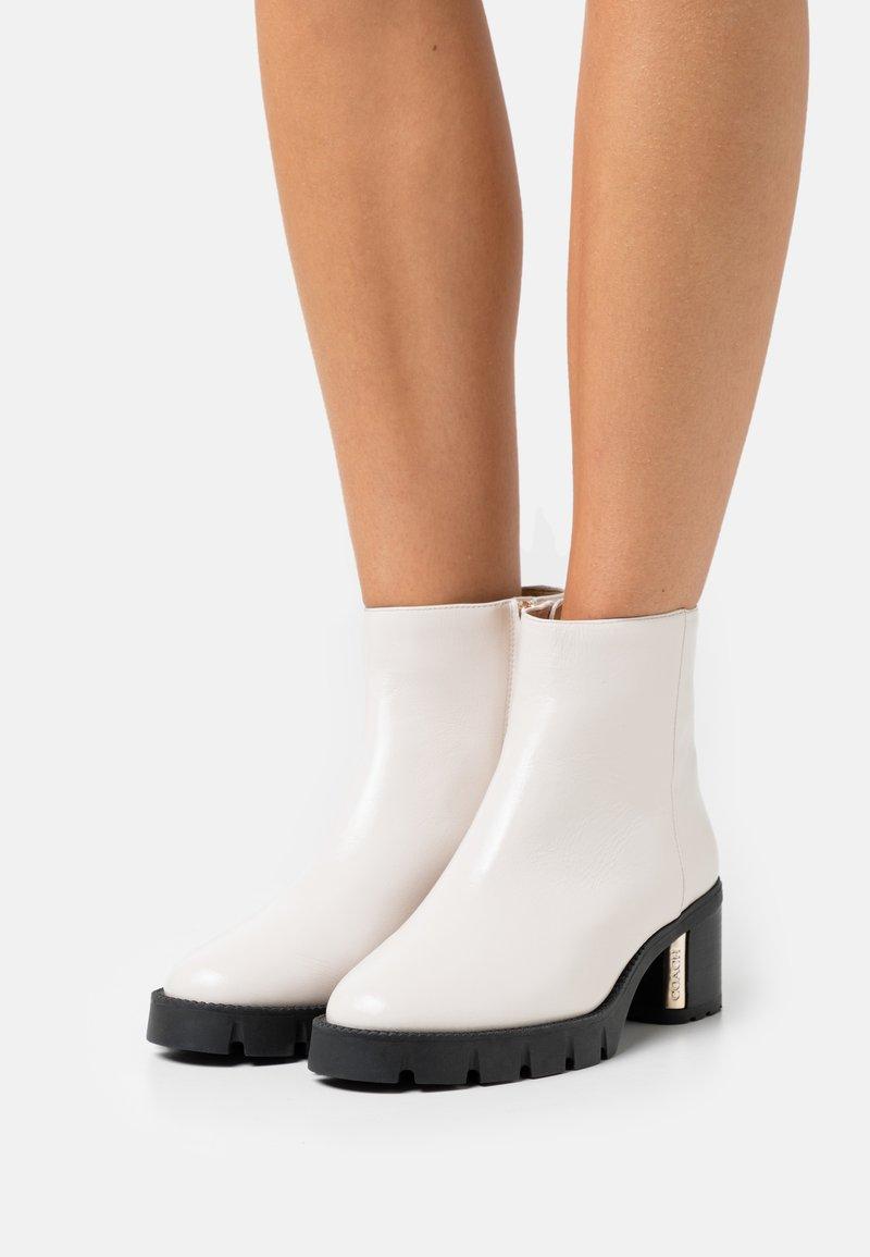 Coach - CHRISSY BOOTIE - Platform ankle boots - chalk