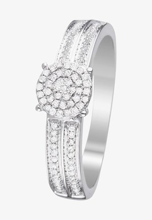 WHITE GOLD RING 9K CERTIFIED 92 DIAMONDS HP1 0.2 CT - Bague - silver