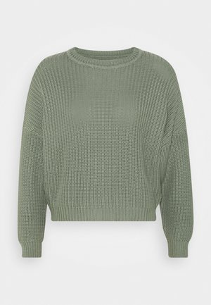 OVERSIZED JUMPER - Svetr - green