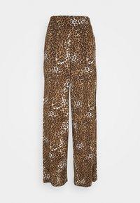FLOW PANTS - Trousers - black/beige