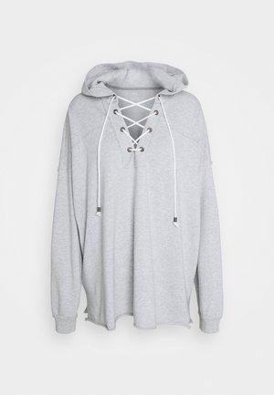 LACE UP HOODIE - Sweatshirt - mhg