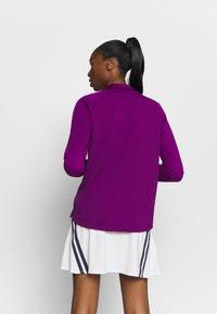 Nike Golf - THERMA LONG SLEEVE ZIP - Mikina - bright grape/bright grape - 2
