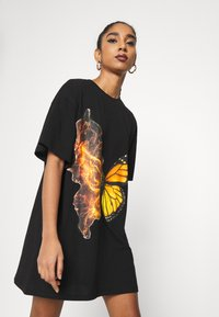 NEW girl ORDER - BUTTERFLY DRESS - Jersey dress - black - 3